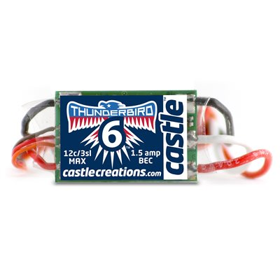THUNDERBIRD 6, 6AMP ESC WITH BEC *discontinued*