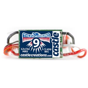 THUNDERBIRD 9, 9AMP ESC WITH BEC