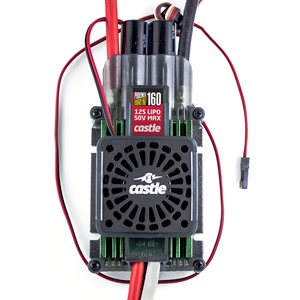 Phoenix Edge HVF 160 Amp ESC, 12S / 50.4V, No BEC w / Cooling Fan *Out of Stock*