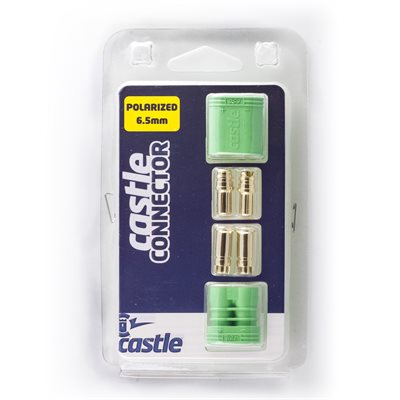 Polarized Castle Connectors - 6.5mm Male / Female Set