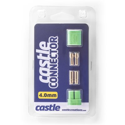 Polarized Castle Connectors - 4.0mm Male / Female Set