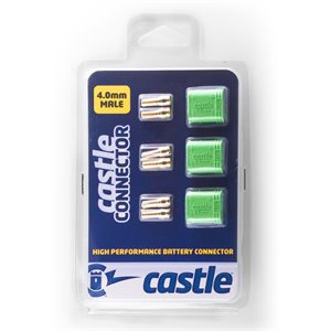 Polarized Castle Connectors - 4.0mm Male Multi-Pack