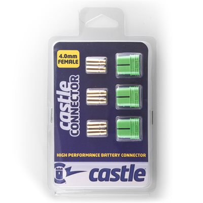 Polarized Castle Connectors - 4.0mm Female Multi-Pack
