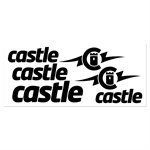 BLACK VINYL CASTLE DECAL