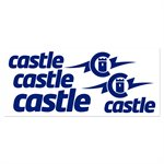 BLUE VINYL CASTLE DECAL