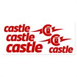RED VINYL CASTLE DECAL