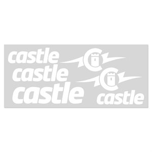 WHITE VINYL CASTLE DECAL