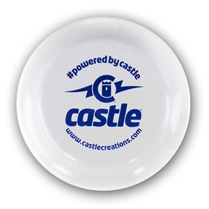 Frisbee - Field Marker:  White with blue printing