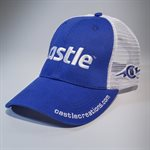 Royal Blue Mesh Hat with White Castle Logo