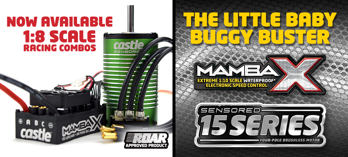 Mamba X with 15 Series Motor Combos for 1:8 Scale
